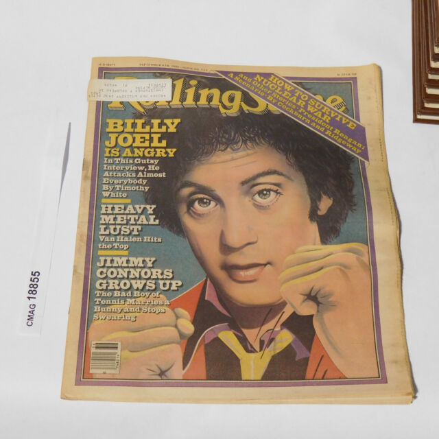 BILLY JOEL IS ANGRY September 4 1980 ROLLING STONE MAGAZINE Issue 325 Van Halen