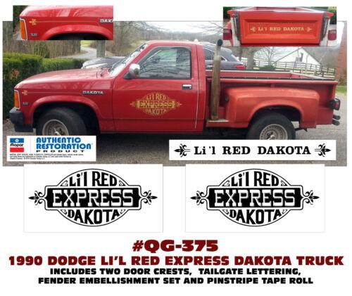 DAKOTA Li/'l RED EXPRESS TRUCK LETTERING /& STRIPE DECAL KIT QG-375 1990 DODGE