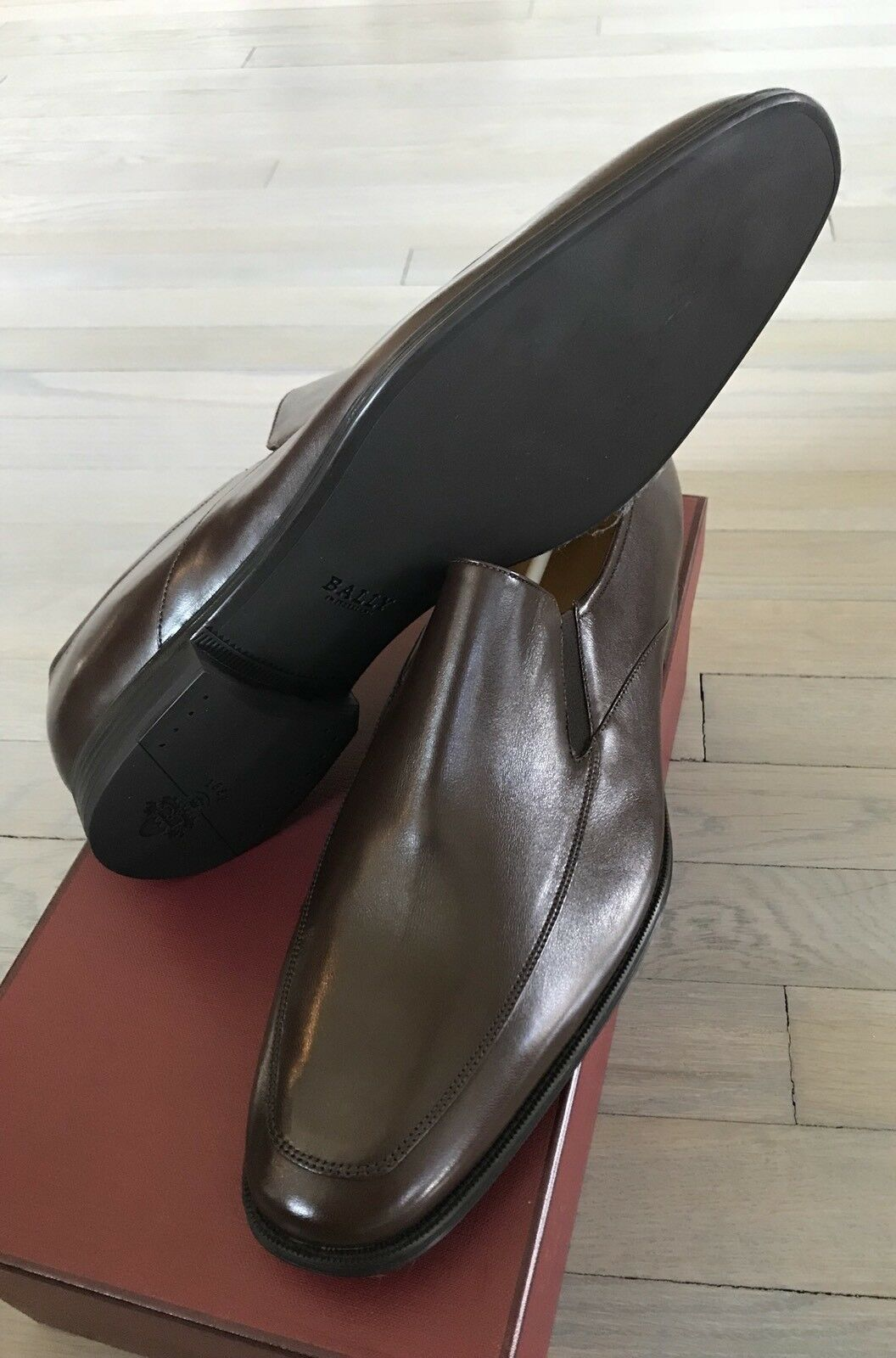 600  Bally Brown Thor Pelle Loafers Size US Switzerland 10 Made in Switzerland US 0a296c