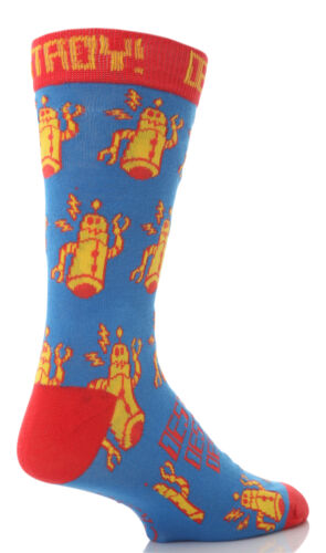 Dare to wear 1 pack mens coloured funny cotton socks in 5 different styles.