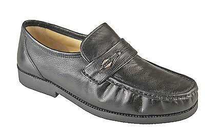Mens Extra Wide Shoes Leather Fitting