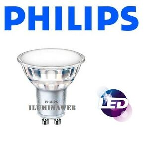 Pack-10-Bombilla-LED-Philips-GU10-5w-Luz-Calida-3000K-830-120-Dicroica-50mm