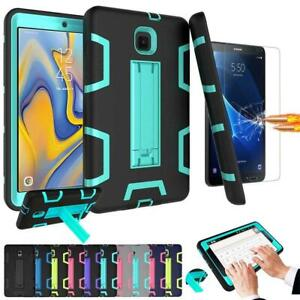 newest 65d6d 15127 Details about Armor Defender Kickstand Tablet Case For LG Samsung Apple  IPad w/ Tempered Glass