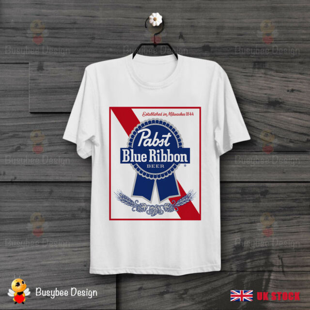 Pabst Blue Ribbon Beer Milwaukee Draft Cool Retro Vintage T Shirt B251