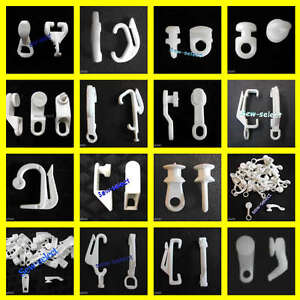 Image Is Loading 30 Curtain Track Gliders Glide Hooks Runners Pole