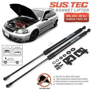 SUSTEC-Front-Hood-Bonnet-Gas-Strut-Damper-Kit-HONDA-Civic-EK-Sedan-amp-Coupe-96-00