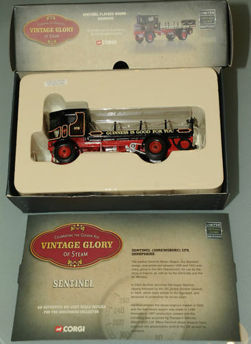 PRL  CORGI GUINNESS 1:50 LIMITED EDITION SENTINEL FLATBED WAG REF 80010 ED. NUM