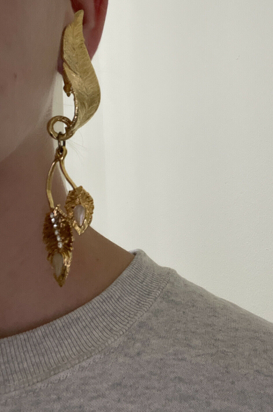 claire deve paris runway clip on earrings gold to… - image 12