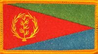 Eritrea Flag Patch With Velcro® Brand Fastener Gold Border 2