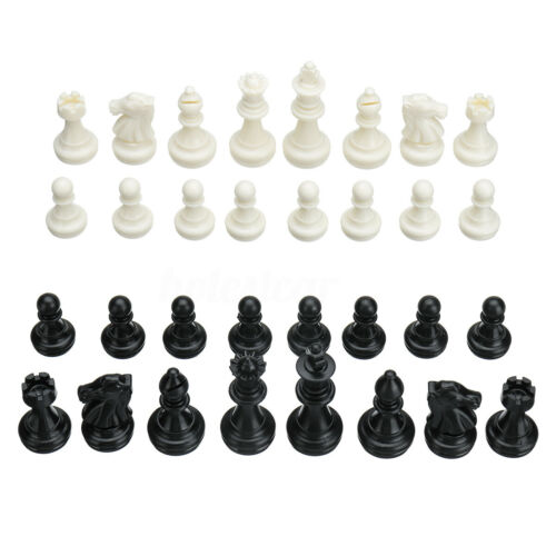 32 PCS Replace Wooden Carved Chess Pieces Hand Crafted Set Large 49mm   **!