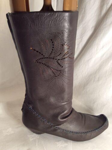 de Botas para a Clarks pierna cuero 6 damas media talla 17nvU7