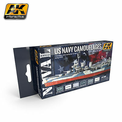 Ak Interactive - Us Navy Mimetizza Set Ak05000 -