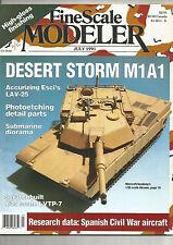 FINESCALE MODELER JULY 1991 DESERT STORM M1A1 / LAV-25 / SCRATCHBUILT 1/35 SCALE