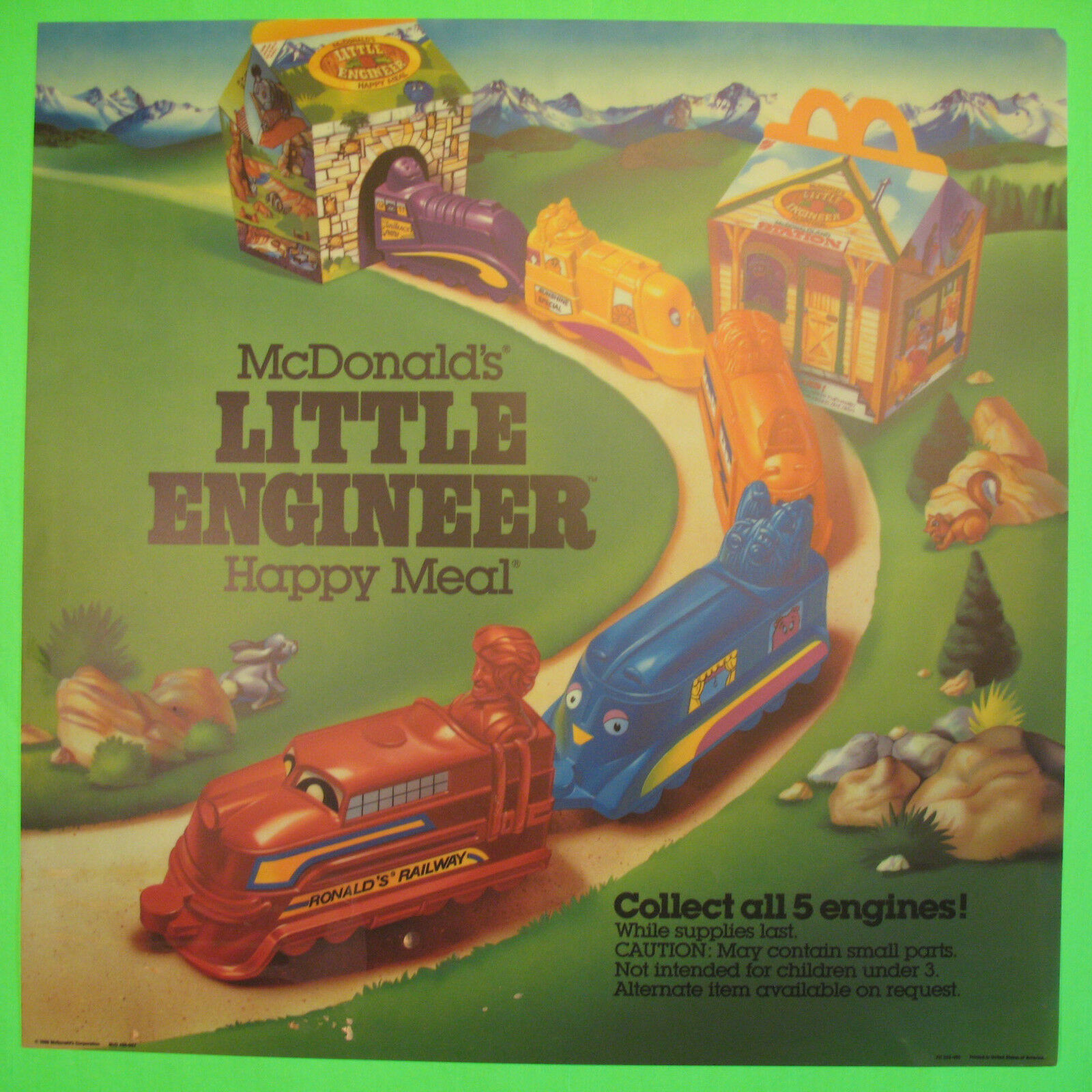 1987 McDonalds Little Engineer Complete Set  - Lot of 5, Boys, 3+