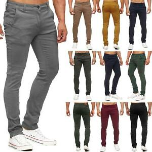 Mens-Skinny-Chino-Trousers-Slim-Fit-Cotton-Regular-Pants-Casual-Stretch-Spandex