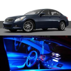 Image Is Loading 9x Blue Led Lights Interior Package For Infiniti
