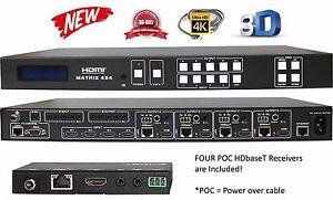 4k 4x8 Hdbaset Hdmi Matrix Switcher 1080p Uhd 4x4 Crestron