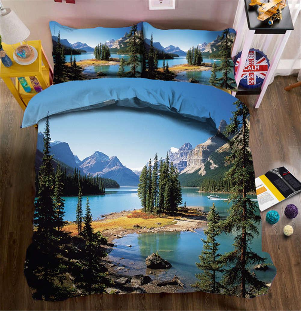 Beautiful Wetland 3D Printing Duvet Quilt Doona Covers Pillow Case Bedding Sets