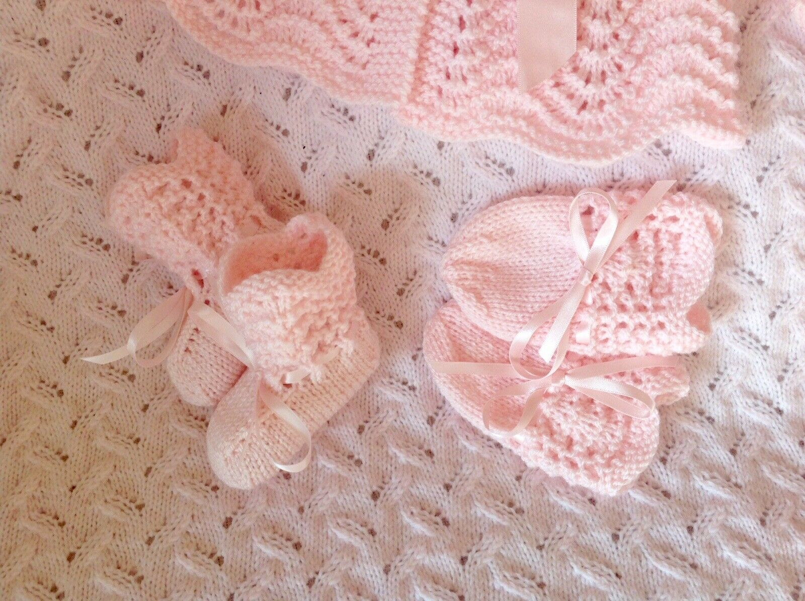 4 Pce Baby Set Newborn Or Reborn #22 Vintage Style Easy Knitting Instructions