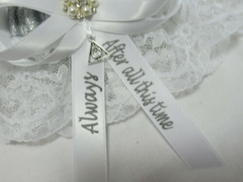 other colors availa Harry Potter After all this time always lace wedding garter