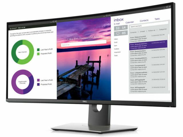 "Dell UltraSharp U3419W 34.1"" UW-QHD Curved Screen Edge LED 21:9 60Hz 300Nit"