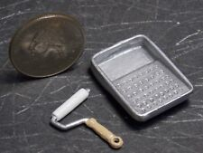 PAINT TRAY and Roller 1//12 scale dollhouse cast metal miniature tool ISL0174