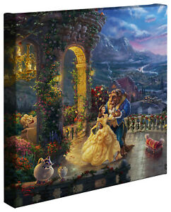 Thomas-Kinkade-Studio-Disney-Beauty-and-the-Beast-Dancing-in-the-Moonlight-14x14