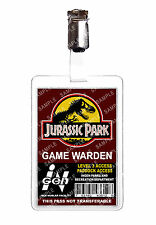 Jurassic Park Game Warden ID Badge Card Cosplay Film Prop Comic Con Comic Con