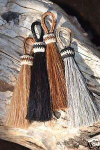 100-Natural-Horsehair-Bridle-Breast-Collar-Tassels-3-034