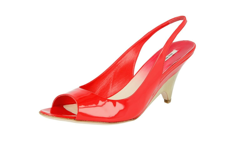 Lujo Miu Miu Miu Miu pumps wedge Stiletto zapatos 5x5905 mandarino nuevo 39 39,5 UK 6 af9bba