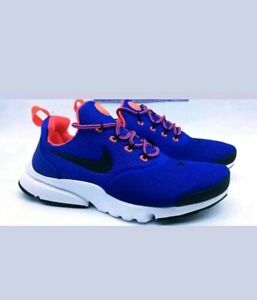 maceta Destilar Nosotros mismos  New Boys Girls Ladies Nike Presto Fly GS Blue Black White Trainers ...