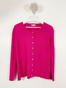 Vintage First Avenue Classic Cardigan Long Sleeve Size Large Pink Shell Bettons