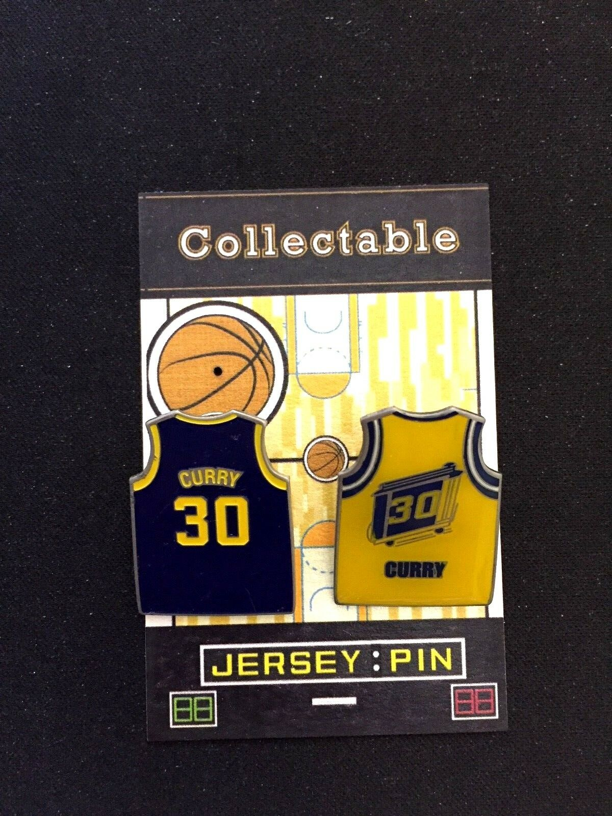 Golden Golden Golden State Warriors Stephen Curry Revers Pins-Dub Nation Collectables-Champion 0bb68c