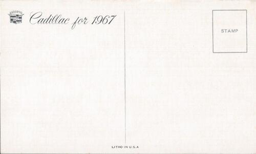 1967 Cadillac 4-Door SEDAN Silver//BLUE Original Dealer Promo Postcard UNUSED ^