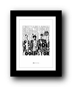 BLUR Girls And Boys  ❤  song lyrics typography poster art print