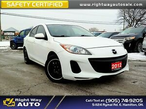 2012 Mazda 3 GS-SKY | LOW KMS | SAFETY CERTIFIED