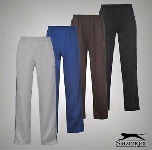 Hommes-Slazenger-Casual-Pantalon-De-Jogging-ouverte-Ourlet-Polaire-Pantalon-Tailles-S-XXXXL