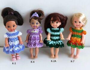 Clothes-for-Mattel-4-034-Kelly-Doll-Choose-K-2A-K-3-K-4-K-7-Dress-Lot-1-Custom-USA