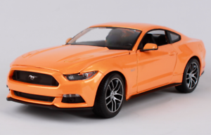 Maisto 1 18 2015 Ford Mustang GT Diecast Model Sports Racing Car Vehicle orange