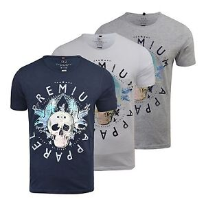 T-Shirt-Hommes-Smith-amp-Jones-Myopie-T-Shirt-Ras-de-Cou-Coupe-Standard-Coton-A