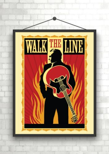 Walk The Line Johnny Cash Large Movie Poster Art Print A0 A1 A2 A3 A4 Maxi