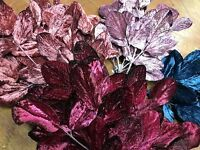 Vintage Millinery Velvet Leaves 1940's Made In Japan 1 Spray Hand Wrapped