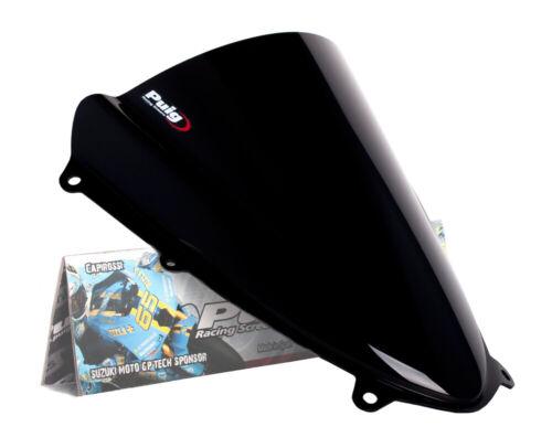 Black Racing Windscreen Puig 4933N For 09-16 Suzuki GSXR1000