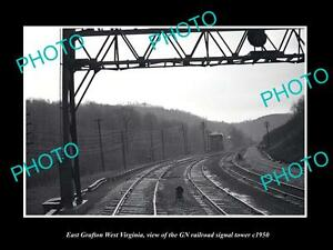 OLD-LARGE-HISTORIC-PHOTO-OF-GRAFTON-WEST-VIRGINIA-THE-GN-RAILROAD-TOWER-c1950
