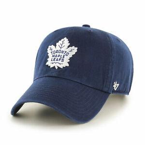 Toronto-Maple-Leafs-Cap-NHL-Eishockey-47Brand-Kappe-Slouch-Flach-geschnitten-NHL