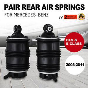 Air-Suspension-Springs-Pair-Rear-For-Mercedes-E300-E500-CLS550-03-11-A2113200725