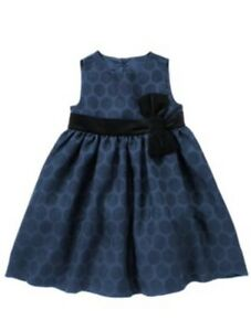 Nwt holiday shine blue velveteen bow dress 6 12 12 18m 18 24m 2t to 5t