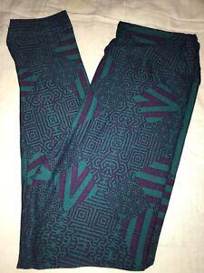 LuLaRoe Kids Leggings S//M Small Medium New Purple W// Green Paisley BoxF