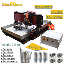 Steel 6090 4axis Cnc Router Mach3 Cnc Milling Machine Copper Steel Brass 22kw
