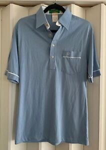 RARE-VTG-Munsingwear-Grand-Slam-Penguin-Blue-Polo-Golf-Shirt-XS-S